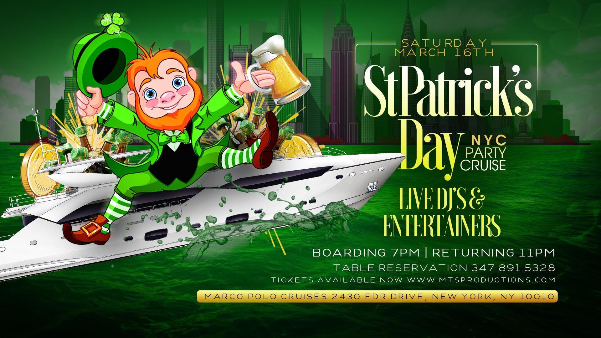 St Patrick's Day NYC Booze Cruise