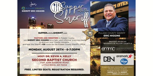 Supper with the Sheriff - AUGUST 26TH