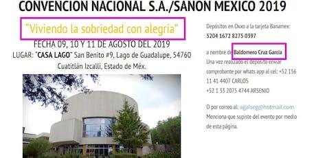 6° Convención Nacional de SA y SANON México entradas