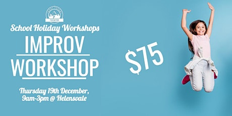 GTKIDS IMPROVISATION WORKSHOP 6-11 YEAR OLDS (HELENSVALE) 9am-3pm tickets