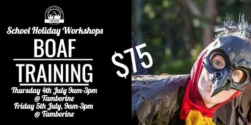 BIRDS OF A FEATHER TRAINING WORKSHOP (TAMBORINE) 9am-3pm Day 1