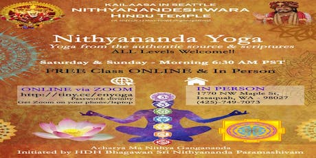 Free Group Yoga Session on Saturdays 6:30AM to 7:30AM tickets