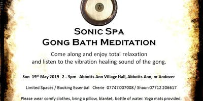 Sonic Spa Gong Bath Meditation - 19th May 2019