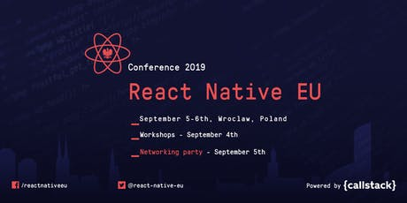 React Native EU 2019 Conference Tickets