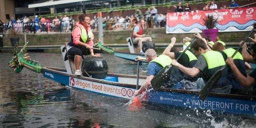 The 2019 Tsingtao Dragon Boat Race at the Leeds Waterfront Festival