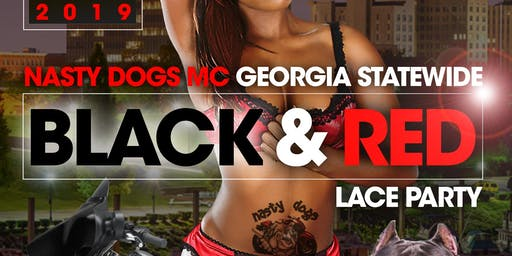 Georgia Statewide Nasty Dogs BLACKNRED Lace Party