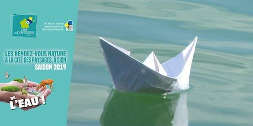 Atelier: construction de moulin à eau et petits bateaux.