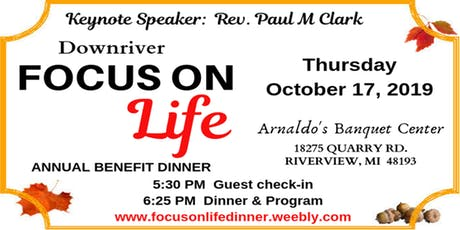 Focus on Life Dinner 2019 tickets