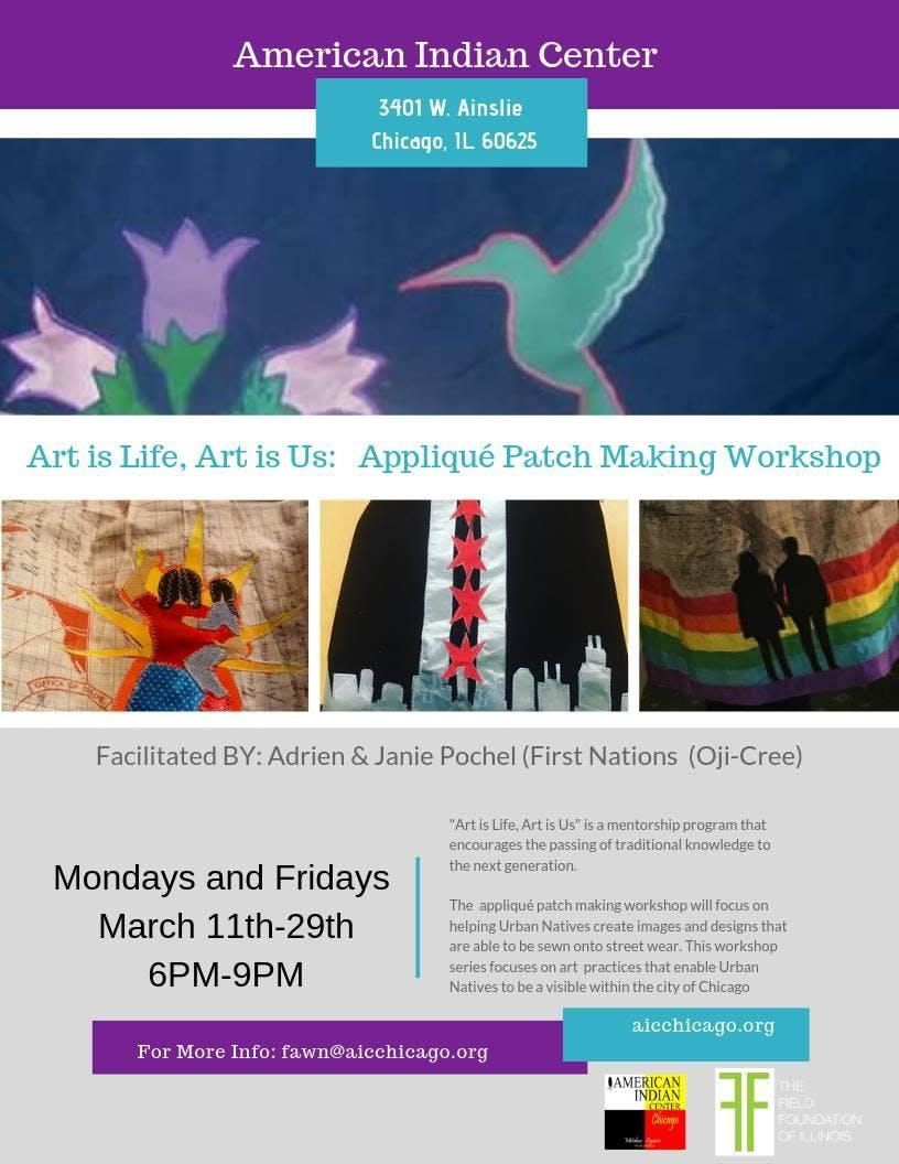 Art is Life, Art is Us: Applique Patch Making Workshop
