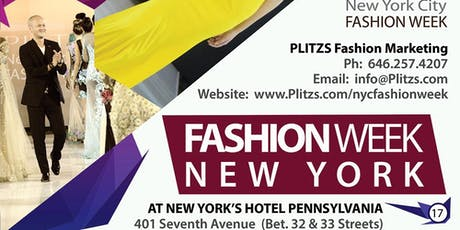 SHOW SEATS FOR FASHION WEEK IN NEW YORK (SEPTEMBER) - BUY ONE SEAT AND SEE 7-9 FASHION DESIGN BRAND COLLECTIONS INTERNATIONAL AND DOMESTIC USA FASHION DESIGN BRANDS tickets