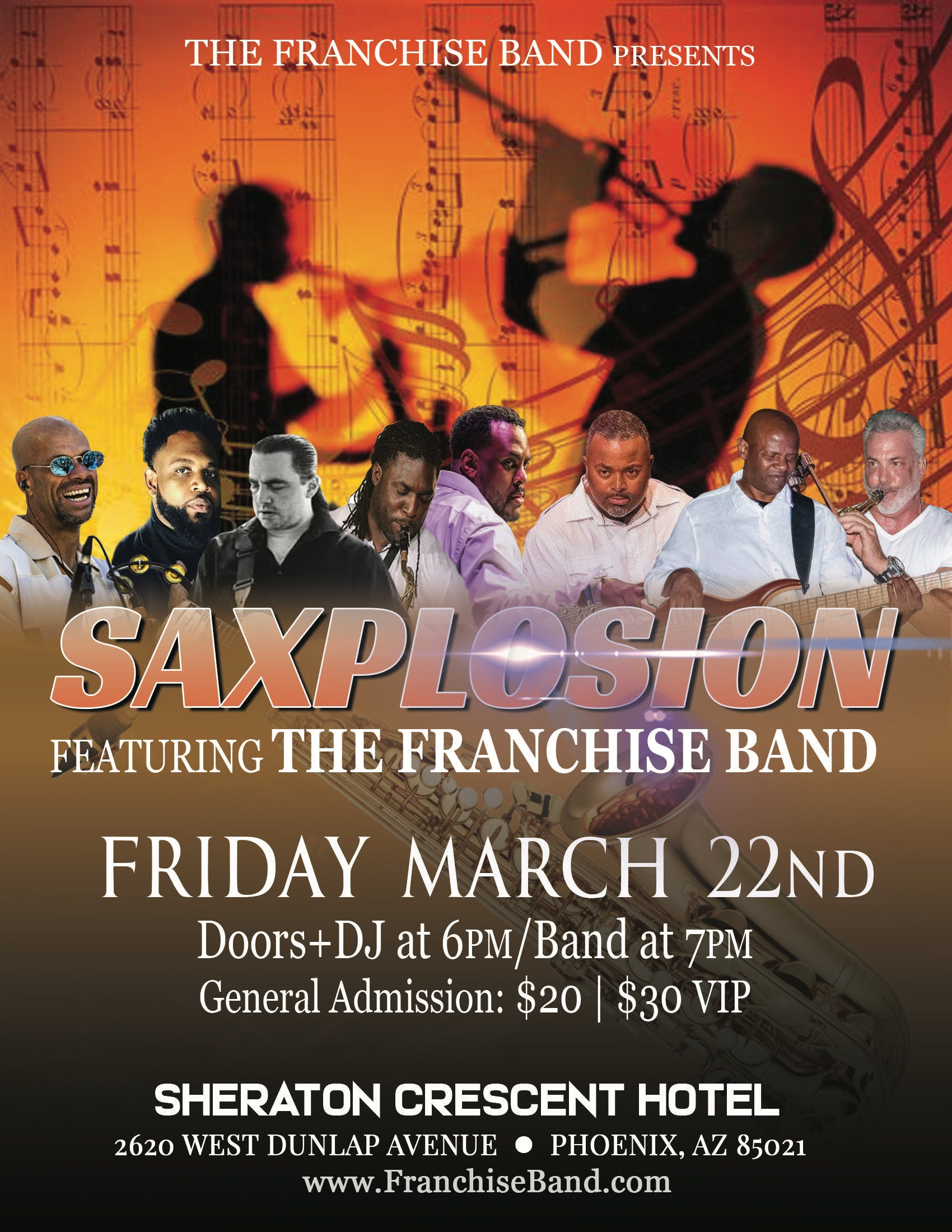 The Franchise Band Presents Saxplosion @ the Sheraton Crescent Hotel