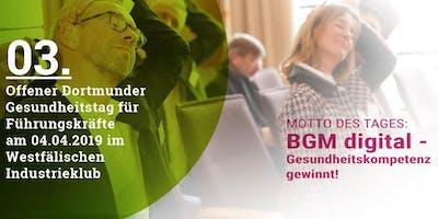 3. Offener Dortmunder Gesundheitstag für Führungskräfte