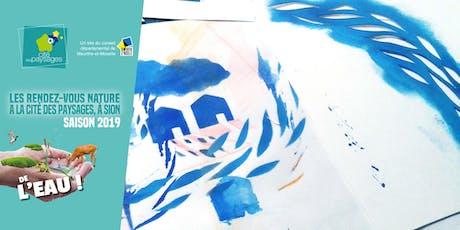 Atelier artistique: Pochoirs et tampons à l'eau (accès libre). billets