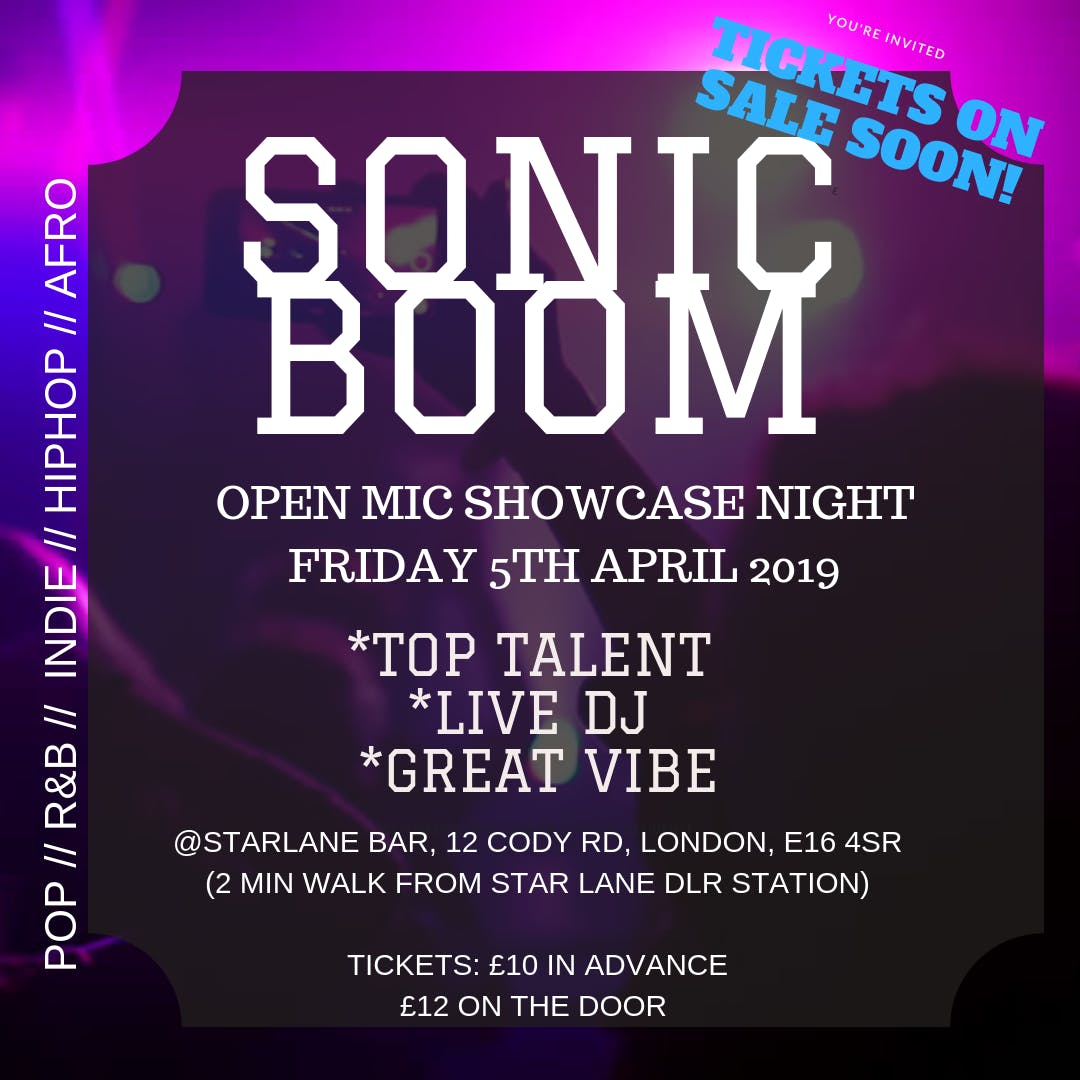SONICBOOM- OPEN MIC NIGHT