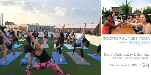Sunset Rooftop Yoga with Prospect Heights Yoga
