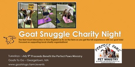 Goat Snuggle Charity Event for Perfect Paws Pet Ministry tickets