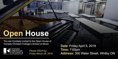 Canada Christian College School of Music Open House