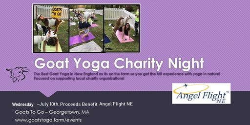 Charity Goat Yoga for Angel Flight NE