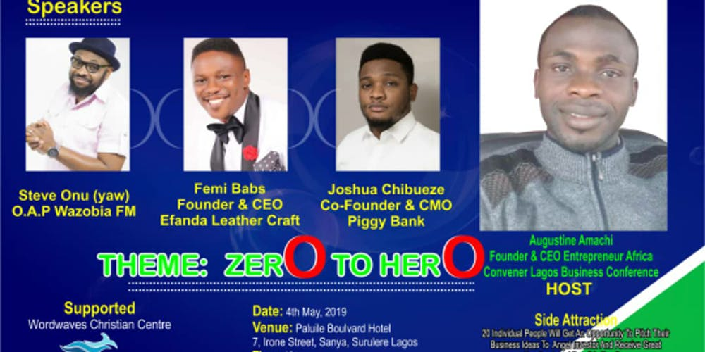 Lagos Business Conference Tickets Sat Jun 8 2019 At 10 00 Am
