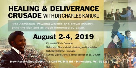Milwaukee WI Healing and Deliverance Crusade tickets