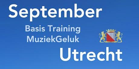 September MuziekGeluk Training is een geaccrediteerde V&V scholing met 5 punten tickets