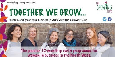 The Growing Club, business growth programme for women.  Lancaster
