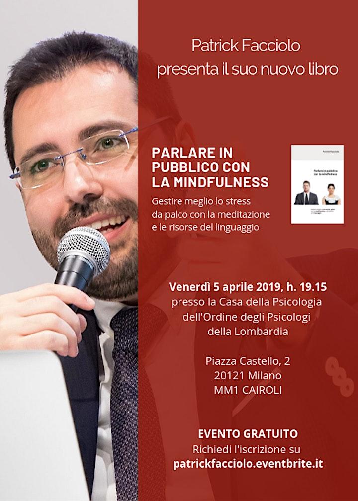 """Immagine Presentazione del libro """"Parlare in pubblico con la mindfulness"""""""