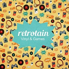 Retrotain - Vinyl & Games logo