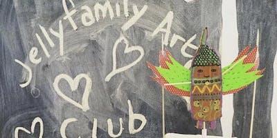 Jelly Family Art Club - May - Monoprints
