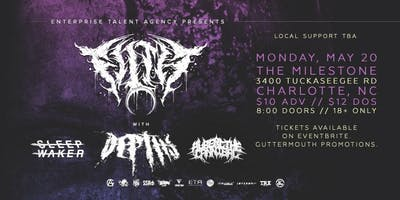 FILTH w/ DEPTHS, SLEEP WAKER, ALBERT THE CANNIBAL & MORE at The Milestone