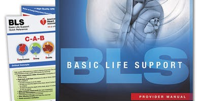 AHA BLS Renewal Course August 30, 2019 (The New 2015 Provider Manual is included!) from 2 PM to 4 PM at Saving American Hearts, Inc. 6165 Lehman Drive Suite 202 Colorado Springs, Colorado 80918.