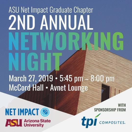 ASU Net Impact Networking Night!