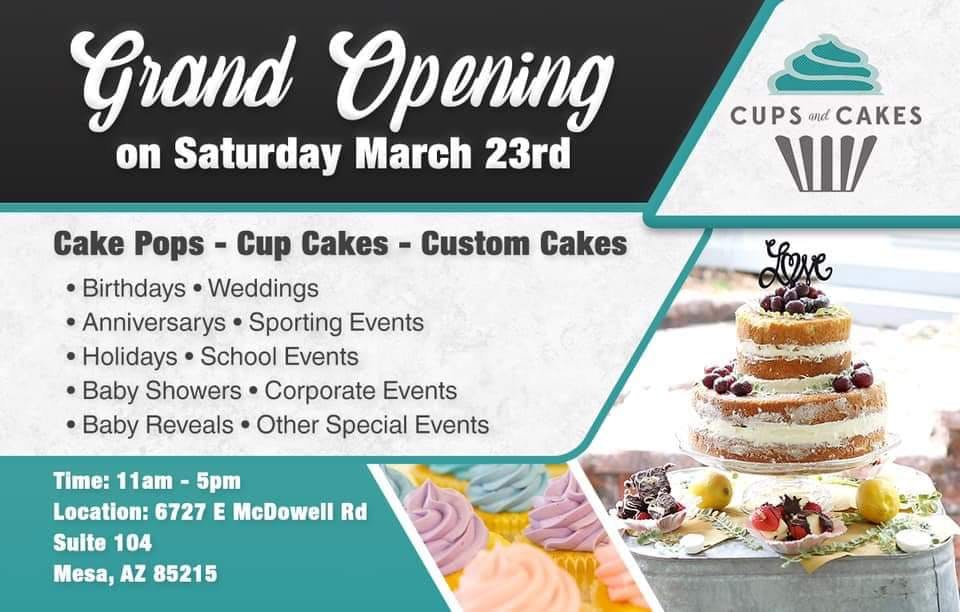 Grand Opening: Cups And Cakes