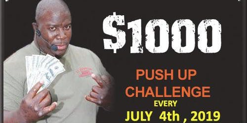 $1,000 Push Up Challenge 2019 - Thursday, 4th of July Redondo Beach