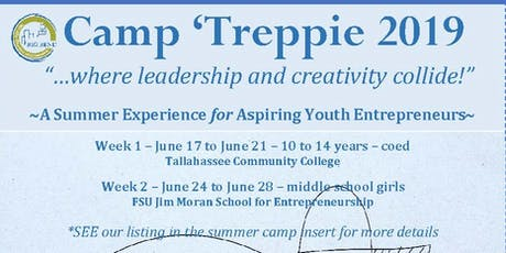 CAMP 'TREPPIE 2019: A Summer Experience for Aspiring Youth Entrepreneurs tickets