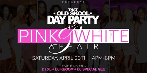 That Old Skool Day Party Pink And White Affair