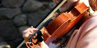 Middagdialoog; Leven is viool leren spelen tijdens concert