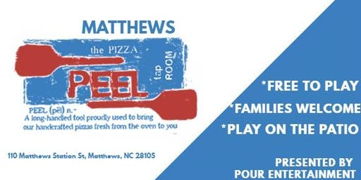 MUSIC BINGO at PIZZA PEEL MATTHEWS