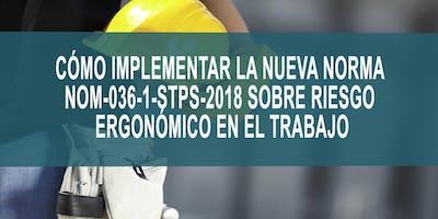 CÓMO IMPLEMENTAR LA NUEVA NORMA NOM-036-1-STPS-2019 SOBRE RIESGO ERGONÓMICO EN EL TRABAJO
