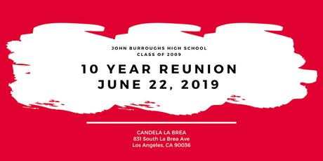 JBHS Class of 2009 10-Year Reunion tickets