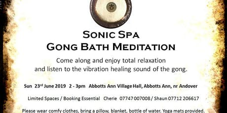 Sonic Spa Gong Bath Meditation - 23rd June 2019 tickets