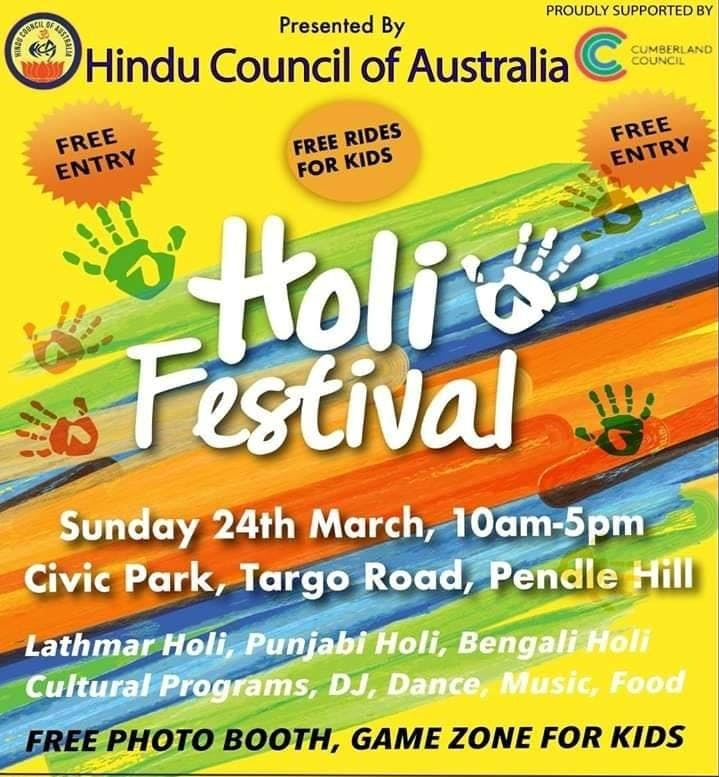 Holi Festival by Hindu Council, March 24, 201