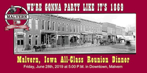 Malvern Iowa Sesquicentennial Celebration ALL-CLASS REUNION