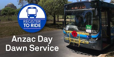 Register to Ride with Transport Canberra to the Anzac Day Dawn Service 2019