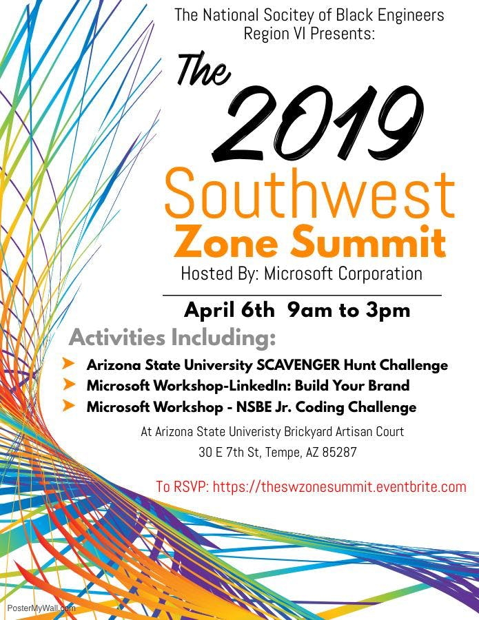 NSBE Region VI Spring Southwest Zone Summit; Hosted by Microsoft Corporation