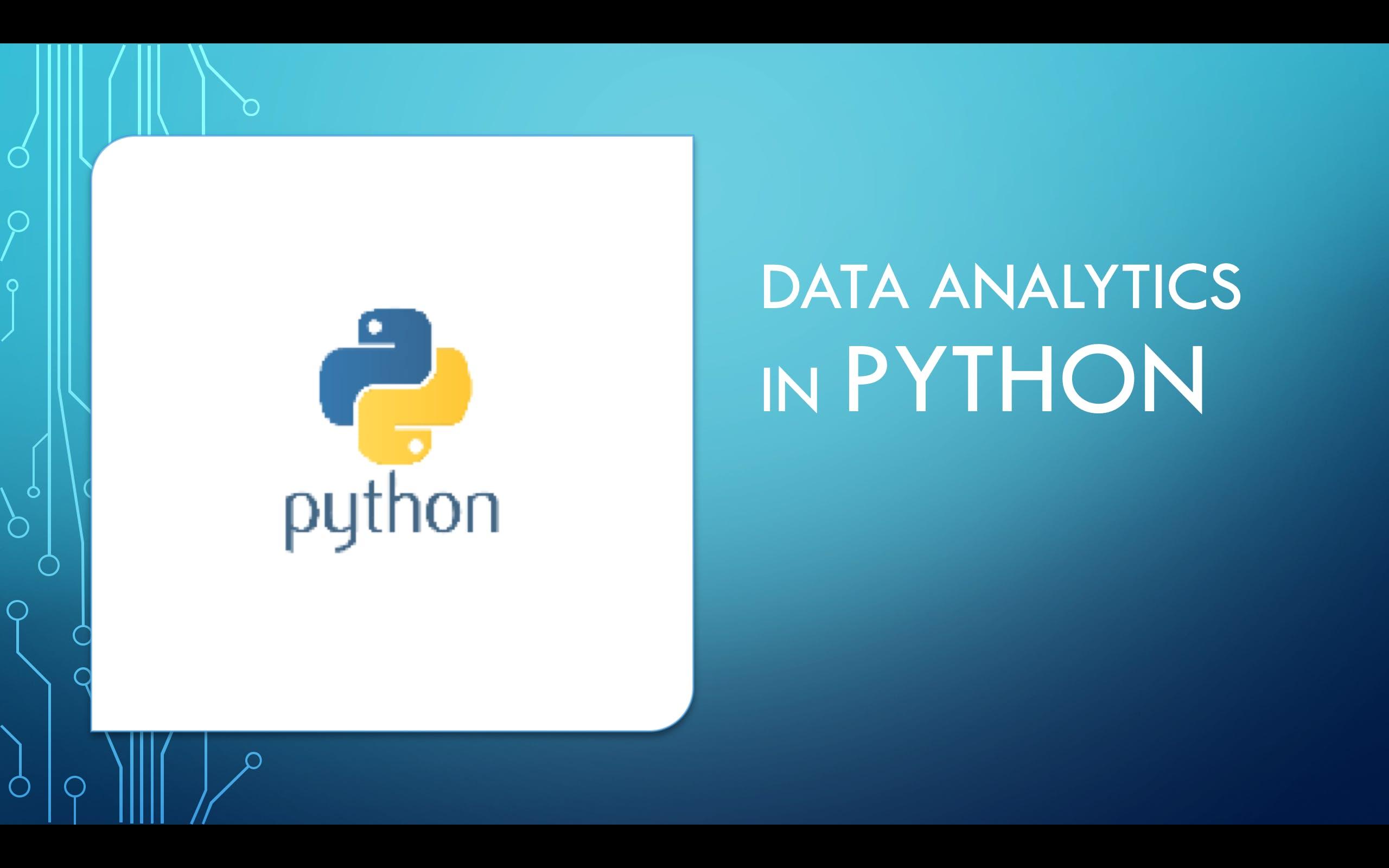 Data Analytics in Python Training : Scipy, Numpy, Pandas, Matplotlib ( 4 Hours Live Online)-Barcelona, Spain