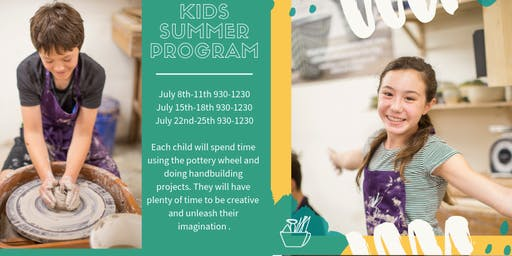 Kids Clay Summer Program ( Monday- Thursday: Multiple weeks available)