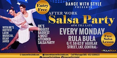 After Work Salsa Party at Rula Bula Every Monday: Entry Free With Salsa Lesson tickets