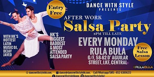 After Work Salsa Party at Rula Bula Every Monday: Entry Free With Salsa Lesson