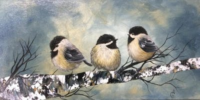 Paint with Me - Let's paint Chickadees again!